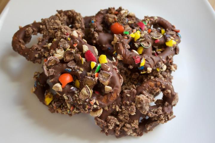 Choco pretzels